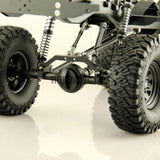 D90 V2 1/10 Scale Defender Chassis Fully CNC Metal Electric 4X4 RC Truck D110