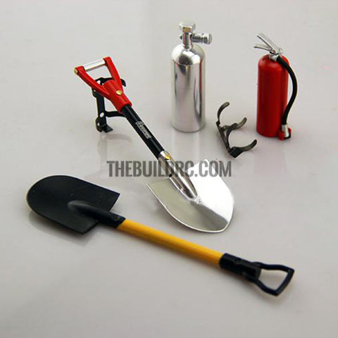 1/10 Scale Metal Fire Extinguisher Red- RC Crawler Accessory