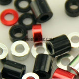 1/10 RC crawler puch rod spacer 6mm diameter bore 3mm thick 1mm black