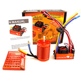 SKYRC LEOPARD 60A ESC 12T 3300KV Brushless Motor 1/10 Car Combo Program card