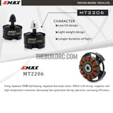 Emax MT2206 1900KV CCW Thread Brushless Motor For 250 Quadcopter - black cap