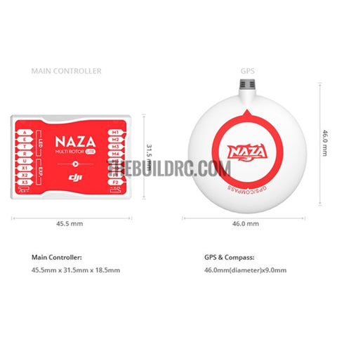 DJI Naza-M Lite GPS and Compass
