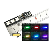 RGB LED Lamp Panel 12V 3S Lipo 7 Colors Switch For FPV Helicopter Multi-axis
