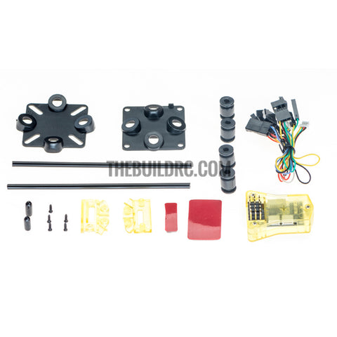 Openpilot MINI CC3D Combo Atom NANO CC3D Flight Control for FPV QAV 250 FPV GT (Bent Pins + antenna box + anti stock holder)