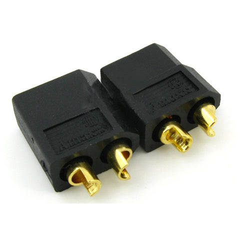 Amass XT60 Power Connectors - Black Edition - The Original & The Best (Male and Female Pair)