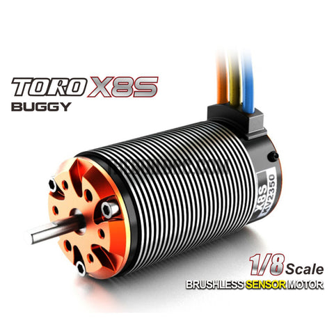 Toro X8S 1750KV 4 Poles Sensored Brushless Motor for 1/8 RC Model
