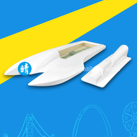 Remote control shrimp boat FRP hull racing catamaran wireless remote control boat diy high speed charging model boat speedboat