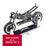 Three set of Dean Tech GT913 Carbon Fiber Chassis 1:5 EP Racing Bike Kit for two