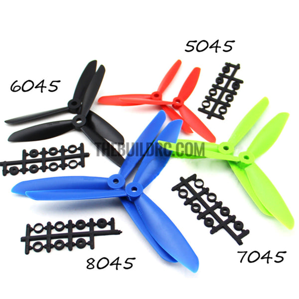 7 x 4.5 7045 7045R L/R CCW CW 3-blade Propeller Props, MultiCopter Quad Copter 2pcs
