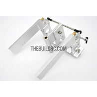 75*140mm Durable Aluminum Twin Helm Rudder (Double Water Entrance) with ??5mm Shaft Holder