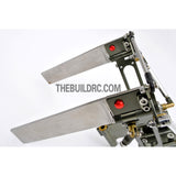 130*150mm Double Arm Durable Aluminum Helm Rudder with ??6.35mm Shaft Holder