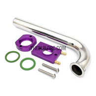 RC Boat ??20 x ??22 x 170mm Stainless Steel 105 Degree Pipe Tube Manifold with Water Cooling System