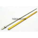 RC Boat ??3.0 x 245mm(L) Metal Drive Shaft + 200mm(L) Metal Tube + Cone Nut + Peep Fork