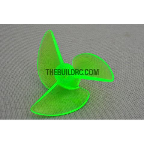 ??3.9 3P x 38 x 14mm RC Boat Plastic Slotted 3-Blade Propeller