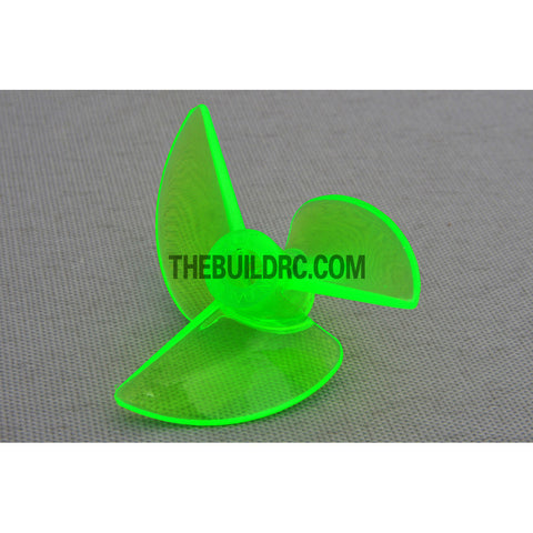 ??3.9 3P x 36 x 13mm RC Boat Plastic Slotted 3-Blade Propeller