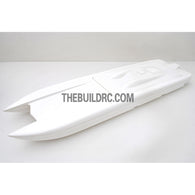 "36"" RC EP Epoxy Fiberglass Catamaran Racing Boat Hull - White"