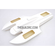 "30.5"" RC EP Epoxy Fiberglass Twin Power SOBER Boat Hull - White"