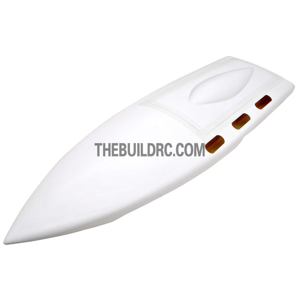 "23"" RC EP Deep-Vee Ocean Force Epoxy Fiberglass Anti-Turnover Mono Racing Boat Hull - White"