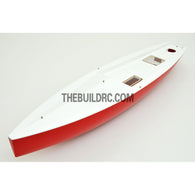 "39"" RC EP Carbon Fiber Yacht Sailing Boat Hull - white/red"
