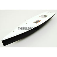 "30"" RC Carbon Fiber E Class Yacht Sailing Boat Hull - Black / White"