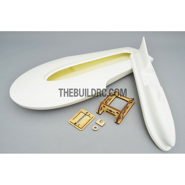 "24"" RC EP Epoxy Fiberglass Miss Supertest Hydroplane Scale Racing Boat Hull - White"