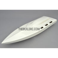 "26"" RC EP Deep-Vee IMPLUSE Epoxy Fiberglass Anti-Turnover Mono Racing Boat Hull - White"