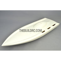 "32"" RC EP Epoxy Fiberglass Deep-vee Arowana Mono 2 Anti-Turnover Racing Boat Hull - White"