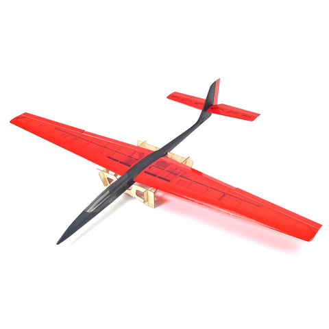 3Ch RC ARF 1.43M Speedo Pro Lite Aerobatic Slow Wind Thermal Glider Plane - Red/Black