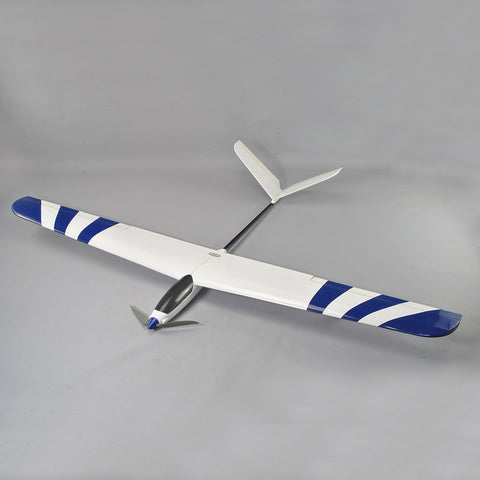4Ch RC EP 1.4M Blue Wing Advance V-Tail Aerobatic Thermal Sailplane Glider ARF