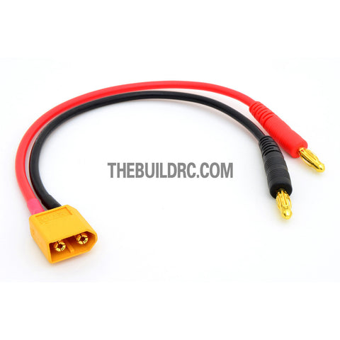 Female XT60 <-> 4mm Banana Plug 180mm 14 AWG 200?? Wire Battery Adaptor