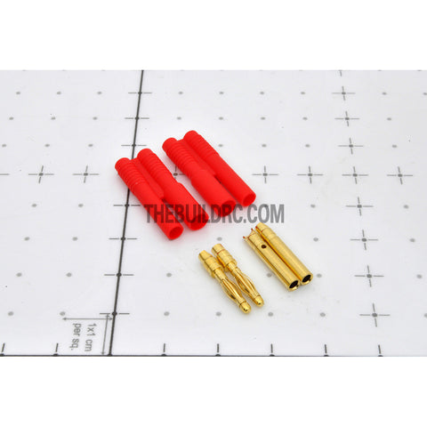 Turborix Advance 2.0mm Thermostable Gold Connectors & Shrink Plastic Tubes Set (2 Pairs)
