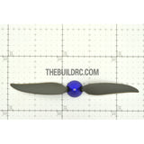 "10 x 6"" Folding Propeller with 30mm Aluminum Spinner ??4mm Hub - Blue"