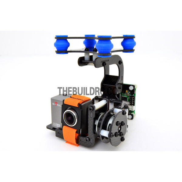 FPV Camera Mount Gimbal With 2208kv  Brushless Motors & Controller for Gopro3 Aerial (Upgradeable) - Carbon Fiber (~205g)