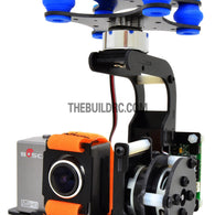 3 Axis Upgraded FPV Camera Mount Gimbal With 2208kv  Brushless Motors & Controller for Gopro3 Aerial - Fiberglass (~250g)