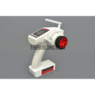 Eurgle 2.4Ghz 4Ch Digital FHSS Flexi-Mixing System LCD Pistol Grip Radio Gear with Built-in Gyro - White
