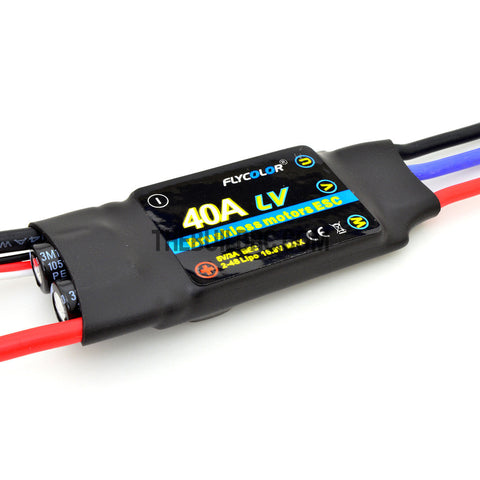 FlyColor 40A 2-4S SBEC:5 5V/3A Brushless Motor Programmable ESC for RC  Plane / Glider / Helicopter