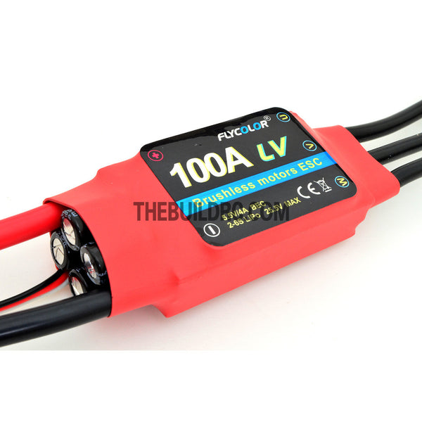 FlyColor 100A 2-6S SBEC:5.5V/4A Brushless Motor Programmable ESC for RC Plane / Glider / Helicopter