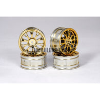 1/10 RC Car Metallic Plate Wheel Set (Gold)