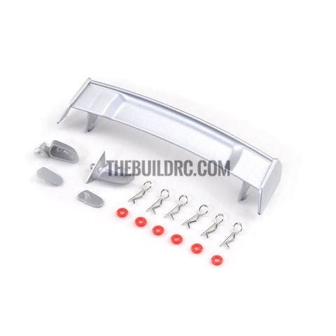 1/10 RC Car Body Rear Spoiler & Side Mirror Set (Silver)