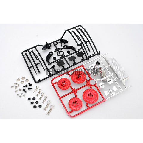 1/10 RC Car Brake Disc & Accessories Set - Red