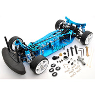 1/10 RC EP XR 4WD On-Road Belt Drive Racing Car Aluminum Chassis - Blue