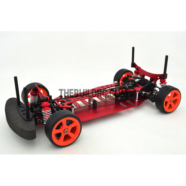 1/10 RC EP XR 4WD On-Road Belt Drive Racing Car Aluminum Chassis - Red