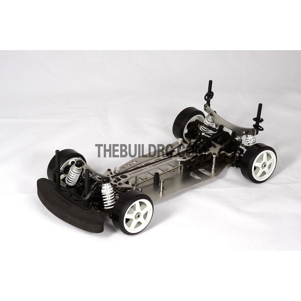 1/10 RC EP XR 4WD On-Road Belt Drive Racing Car Aluminum Chassis - Silver