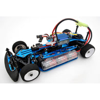 1/18 RC EP XR 4WD On-Road Belt Drive Racing Car Aluminum Chassis - Blue