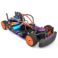 1/18 RC EP XR 4WD On-Road Belt Drive Racing Car Aluminum Chassis - Purple