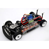 1/18 RC EP XR 4WD On-Road Belt Drive Racing Car Aluminum Chassis - Silver