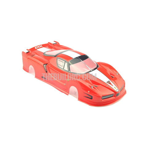 1/10 FERRARI FXX Analog Painted RC Car Body (Red)
