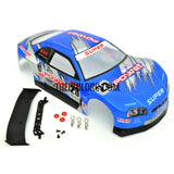 1/18 Nissan Skyline Analog Painted RC Car Body with Rear Spoiler (Blue)