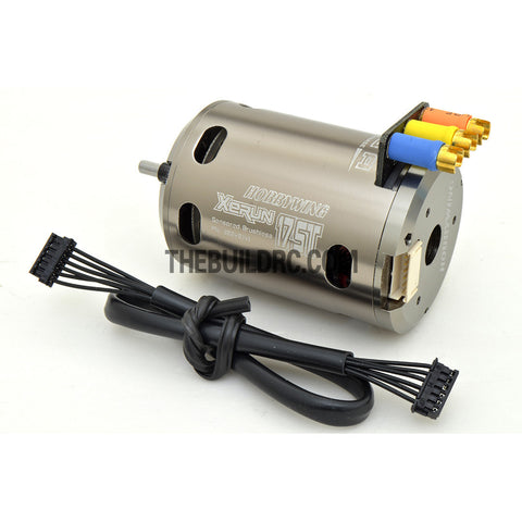 HobbyWing XERUN 17.5T 3650 1900KV Sensored Brushless Motor for 1/10 RC Competition Racing Car - Silver