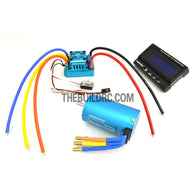 HobbyWing XERUN COMBO-SCT-PRO-D 4068 2250kv Sensored Brushless Motor 120A ESC Power System for 1/8 RC Short Course Truck SCT-PRO - Blue